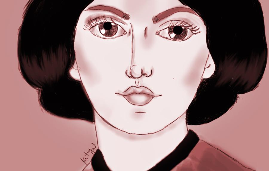 Ilustração da escritora Emily Brontë por Ketryn Alves.