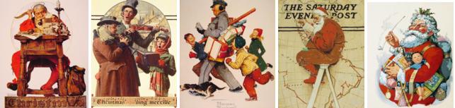 Pinturas papai noel Norman Rockwell